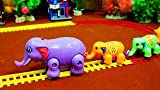#9: west feen Elephant Funny Path Car Series Train ( Multicolor) Toys & Games Play
