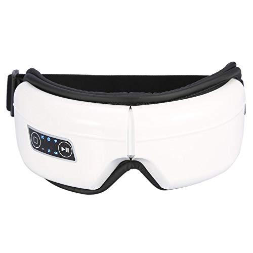 WMC Wiederaufladbares elektrisches Helm-Augenmassagegerät, Eye SPA-Brille mit Musikvibrations-Infrarot-Wärmetherapie-Luftdruck-Kopf-Stressabbau-Augen