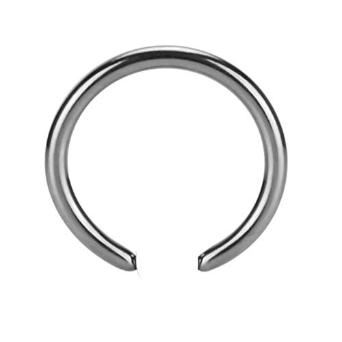 eeddoo Piercing-Ring ohne Kugel Silber Edelstahl 1,2 x 6mm