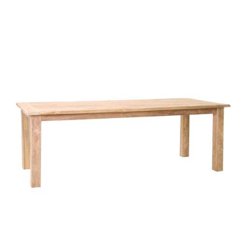 greemotion Teaktisch Triest groß, Gartentisch aus recyceltem Teakholz, Tisch mit rustikaler Oberfläche, langlebig und widerstandsfähig, zeitloses Design - universell kombinierbar, Maße ca. 220 x 90 x 75 cm