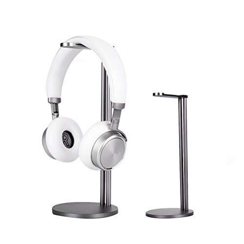 Kopfhörer Ständer, EletecPro Aluminium Legierung Universaler abnehmbar Kopfhörer Headset Halter abziehbar Kopfhörerhalterung geeignet für alle Kopfhörer Größen(Grau))