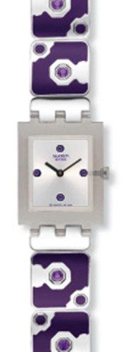 Swatch SUBF100G - Orologio da polso da donna, cinturino in acciaio inox multicolore