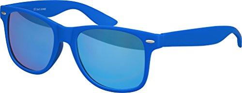 Balinco Hochwertige Nerd Sonnenbrille matte Rubber Retro Vintage Unisex Brille mit Federscharnier für Herren und Damen - 100 verschiedene Farben/Modelle wählbar