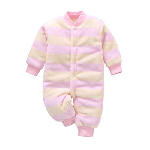 LEXUPE Baby Strampler Jungen Mädchen Schlafanzug Baumwolle Overalls Säugling Spielanzug Baby-Nachtwäsche(Gelb,90)