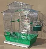 Vogelkäfig,Wellensittichkäfig,Exotenkäfig,60 cm Vogelkäfig Vogelbauer Wellensittich Kanarien Voliere Vogelhaus Käfig IZA 2 II in der Farbe grün