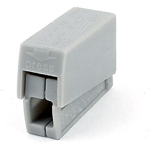 Lámpara 14-12AWG Gray accesorio ligero Empalme sola manera de CA 250V 20A
