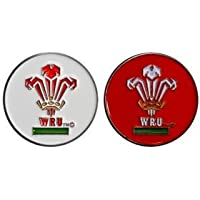 WELSH RUGBY UNION WRU DOUBLE SIDED GOLF BALL MARKER, OFFICIAL MERCHANDISE FROM PREMIER LICENSING.