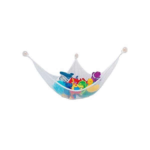 Ruiting Children Toy Hammock 80 * 60 * 60cm Stuffed Toy Storage Net Organizer with 3 Sucker Kids Toy Storage Hammock Ruiting Versatility - Our toy storage net offers you unlimited storage solutions for stuffed animals, plush toys, balls, towels, blankets, bedding, yoga mats, light sport equipment and other collectibles or keep all pool accessories organized in your pool shed. 100% MONEY BACK GUARANTEE: In order to give you a better customer experience we promises a full refund to any dissatisfied customers. High Quality: Made with extra strong, heavy-duty elastic edge for tighter, customizable fit. Great storage solution for any room in your house. 1