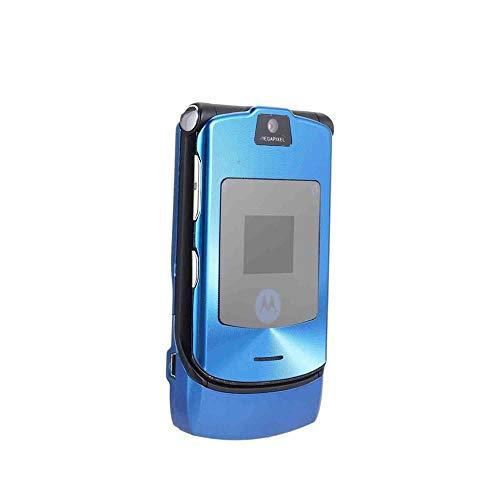 CHOULI Faltbares Handy Motorola Razr V3I + Simlock-Free + Mit Folie + Topp Blue Gsm-free Batterie