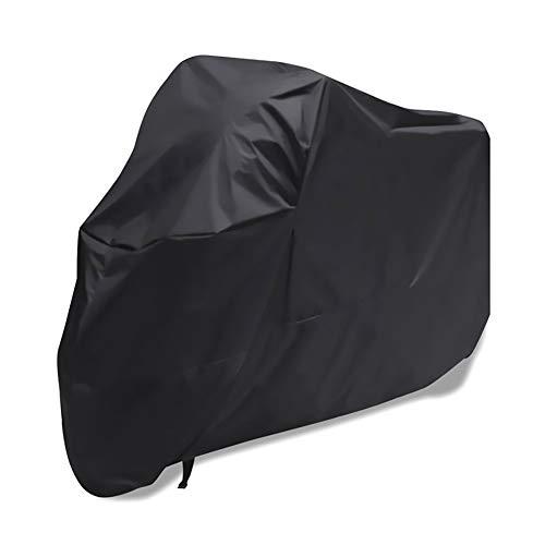 YMYP08 Motorrad Auto Kleidung Bedecken Motorradabdeckung, 190T Silber Beschichtete Polyester-TAFT Wasserdicht Und Schnee- Motorradabdeckung, Schwarz