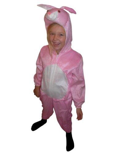 J02 Taglia 7-8A (122-128cm) Costume da Coniglio per bambini, indossabile comodamente sui vestiti normali