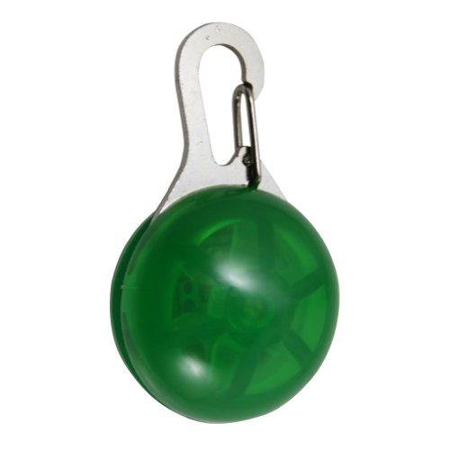 Zehui LED Hundeanhänger Blinklicht Halsbänder Licht Tierhalsband Leuchtanhänger Anhänger Grün