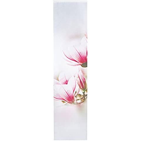 Home Fashion Magnene Tenda a Pannello, Poliestere, Rose, 245 x 60 cm