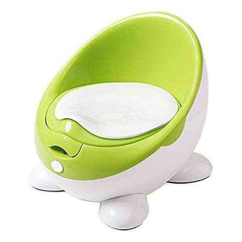 Baby Töpfchen Toilettentrainer für Kinder | Design Topf Kindertoilette für Mädchen und Jungen (Grün)