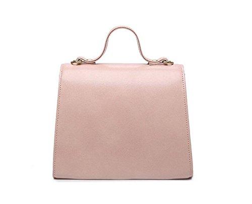 La Borsa Della Borsa Del Sacchetto Del Messaggero Della Spalla Di Modo Del Sacchetto Femminile Dell'inarcamento Di Colore Solido Del Pu Pink