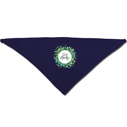 Anlässe Baby - Get lucky Kleeblatt Glück St. Patrick's Day - Unisize - Navy Blau - BZ23 - Baby-Halstuch als Geschenk-Idee für Mädchen und (Day St Mädchen Patricks)