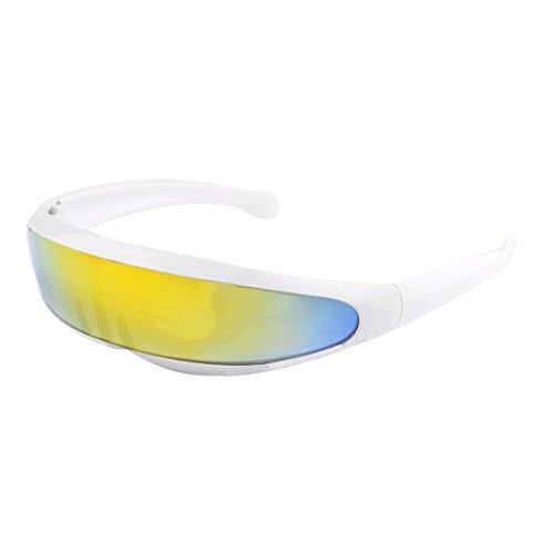 xinzhi Fahrradbrillen, Motorrad-Sonnenbrillen Fahrradbrillen Skibrillen Reitausrüstung für Radfahren und Motorsport im Freien - weiße Rahmenfarbe Wasserzeichen