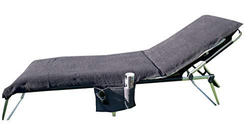 Galleria fotografica Home Edition Rivestimento per sedia a sdraio con tasche laterali F. Mobili da giardino/spiaggia Lettino in Spugna 70x 200cm, colore: Antracite