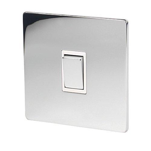 Chrome Light Switch (LAP 1-Gang 2-Way 10AX Light Switch Polished Chrome by LAP)