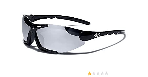 cc1d02ca2ff3db X-Loop Lunettes de Soleil - Sport - Cyclisme - Ski - Vtt - Running - Trail  - Moto - Tennis   Mod Blade Noir Argent Miroir  Amazon.fr  Sports et Loisirs