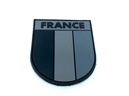 Parche de policloruro de vinilo, diseño de bandera de Francia, negro