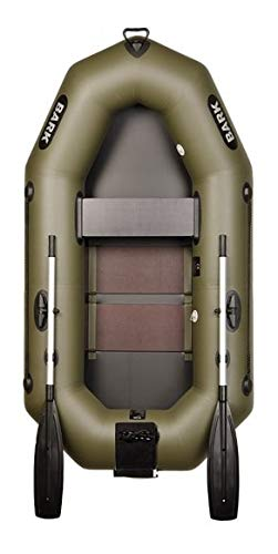 Bark B-220 Schlauchboot für 1 Person Paddelboot Ruderboot Motorboot mit Heckspiegel und Lattenboden Professionelle Strapazierfähige Ausführung (B-220CN Lattenboden Heckspiegel)