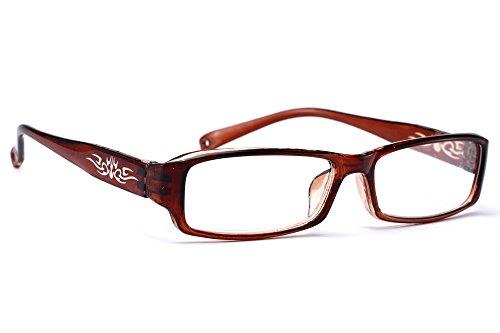 NEW UNISEX (Damen Herren) Flower Blumen Retro Vintage Lesebrille Brille +0.50 +0.75 +1.0 +1.5 +2.0 +2.5 +3.00 +4.00 Reading glasses Morefaz(TM) (+2.5, Brown)