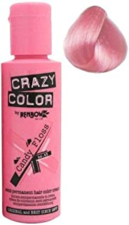 Crazy Color by Renbow Semi Permanent Colour Hair Dye Candy Floss Pink 100 ml