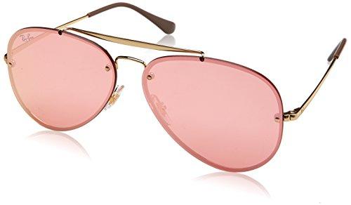 RAYBAN JUNIOR Unisex-Erwachsene Sonnenbrille Blaze Aviator, Gold/Pinkmirrorpink, 61