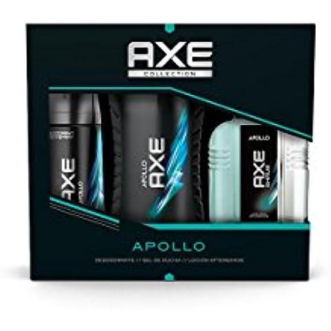 AXE Estuche Apollo Desodorante Spray 150 ml + Gel 250 ml + After Shave 100 ml - 1 Pack
