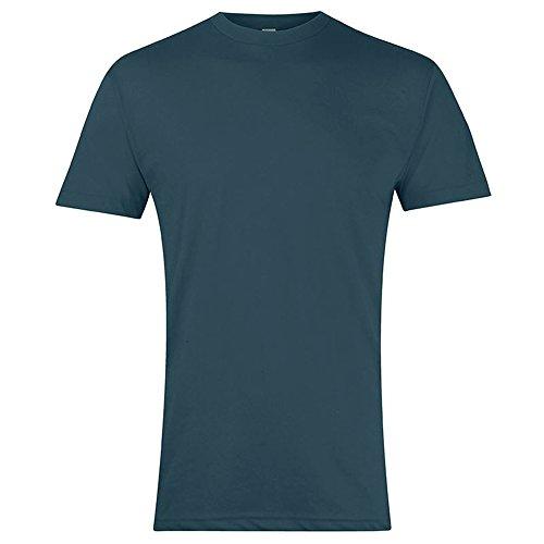 American Apparel Unisex T-Shirt mit Rundhalsausschnitt, Kurzarm (Medium) (Blauschwarz) (American Apparel-track Shirt)