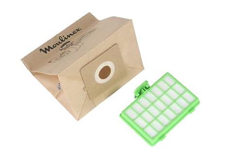 Moulinex MT000101 10 Sacs Papier + 1 Filtre Hepa H10