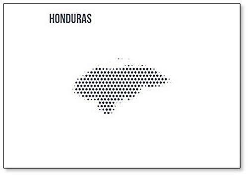 Kühlschrankmagnet, gepunktete Karte von Honduras