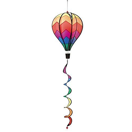 HQ Windspiration 109325 - Hot Air Balloon Twist Sunrise, UV-beständiges und wetterfestes Windspiel - Länge: 104 cm, Ø: 28 cm, inkl. Aufhängung