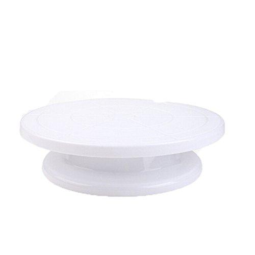 ODN Plateau Tournant pour Décoration Gâteau (Blanc)