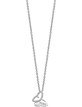 Guess Damen-Kette CRYS BUTTERFLY Messing Kristall One Size, silber