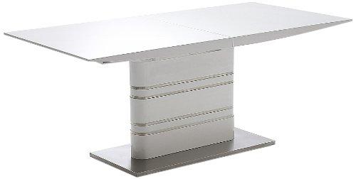 Robas Lund, Tisch, Esszimmertisch, Säulentisch, Modus, Edelstahl/Hochglanz/weiß, 180 x 76 x 90 cm, MODUS HW