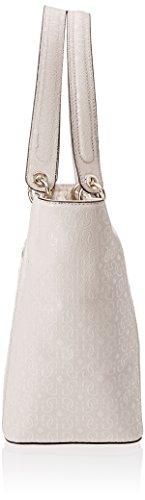 Guess Hwgs6691230, Kamryn Glassy-Look Borsa Shopper Donna, 15x26.5x42 cm Grigio (Stone)