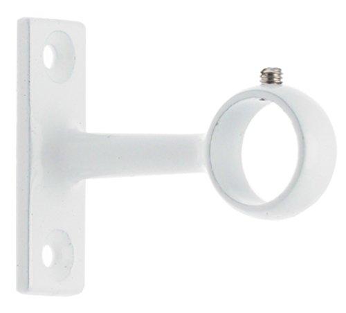 Support à oeil Ateliers 28 - Métal blanc - Longueur 45 mm - Pour tube diamètre 16 mm - Vendu par 2