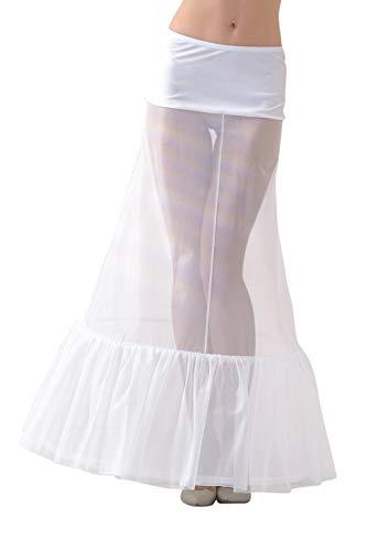 Lacey Bell Mujer Enaguas Larga con Cintura Elástica para Vestidos de Novia - Cancán Circunferencia 220cm - Blanco - S - P1-220