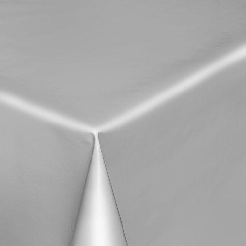 Tovaglia in tela cerata, lavabile, in tinta unita, liscia, lucida, asciugamani, grigio chiaro, rund 140cm