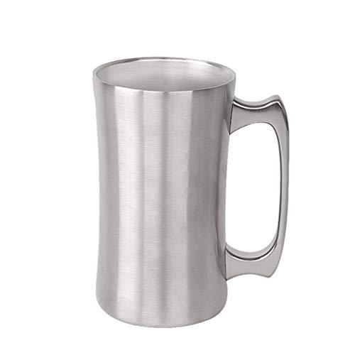 WINLISTING Vatertag Edelstahlbier-Schalen-Vakuum Isolierdoppelschicht-Becher mit großer Kapazität (Silber)