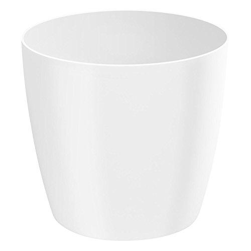 Classique luisant cache-pot LOBELIA, 32 cm, en blanc