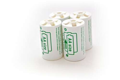 4x Batterieadapter Akku Adapter Mignon auf Mono AA auf D