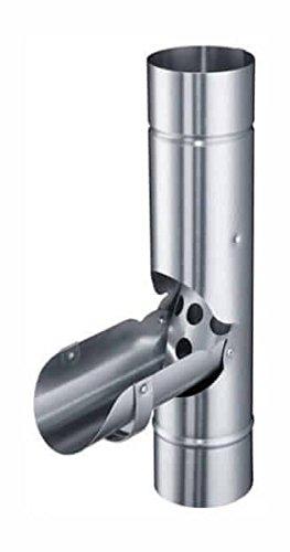 fallrohr verzinkt Zink Fallrohrklappe Ø 90 mm (Verzinkt)