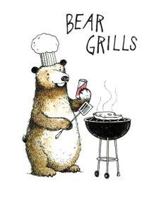 Young At Heart, Bear Grills, Funny Geburtstagskarte