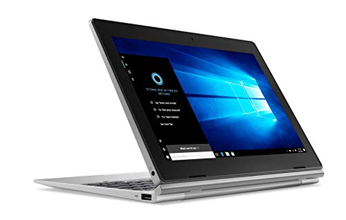 Lenovo Idéapad D330 Ordinateur Portable Hybride 2-en-1 détachable 10,1' Argent (Intel celeron, 4 Go de RAM,eMMC 64 Go, Windows 10) + OFFICE 365 inclu