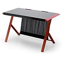 Wunderbar MC Racing, Schreibtisch, Computertisch, MDF/Schwarz/Rot, 60 X 127