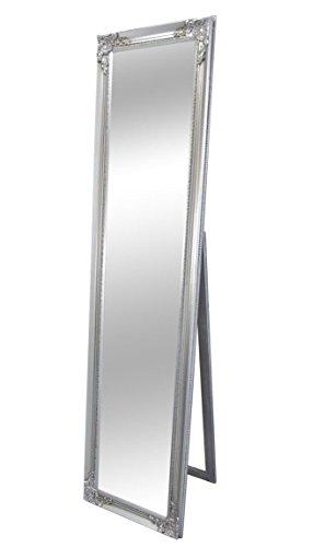 Livitat® Standspiegel Ankleidespiegel antik barock 160 x 40 cm NO … (Silber)