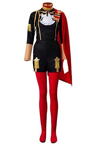 MingoTor Fire Emblem: Three Houses Edelgard Von Hresvelgr Cosplay Kostüm Maßanfertigung (Fire Emblem Kostüm)